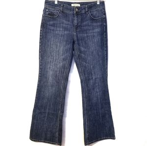 White House Black Market Blanc Flare Leg Jeans 6S